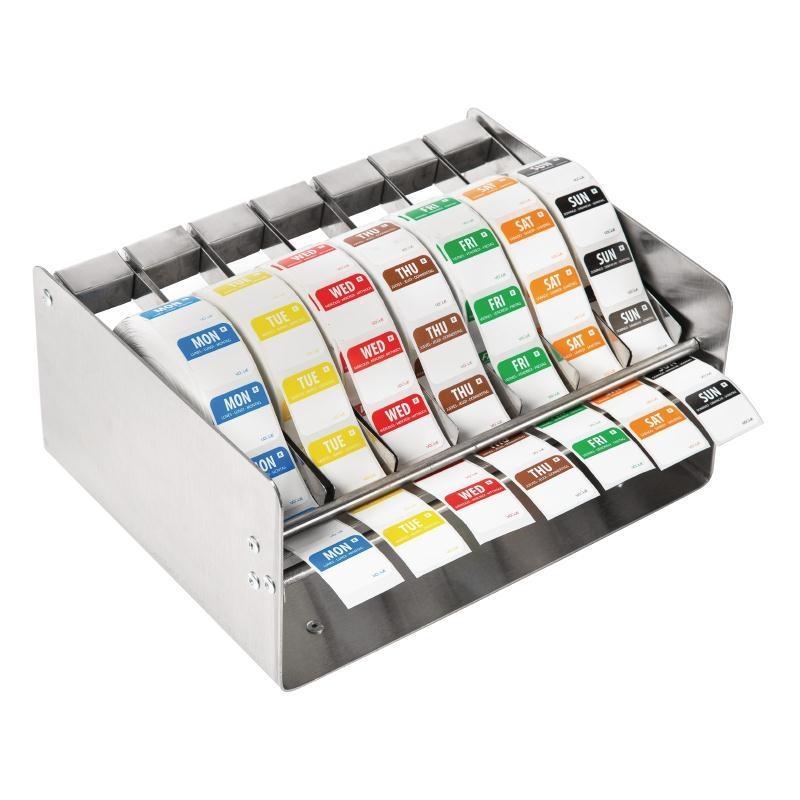 """Conjunto de dispensador y etiquetas adhesivas """"Día de la semana"""" Vogue S154"""