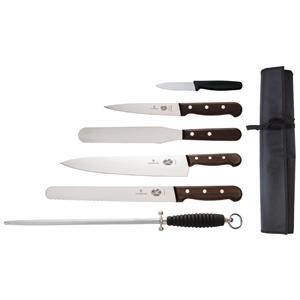 Juego de 7 cuchillos palisandro y estuche Victorinox S188