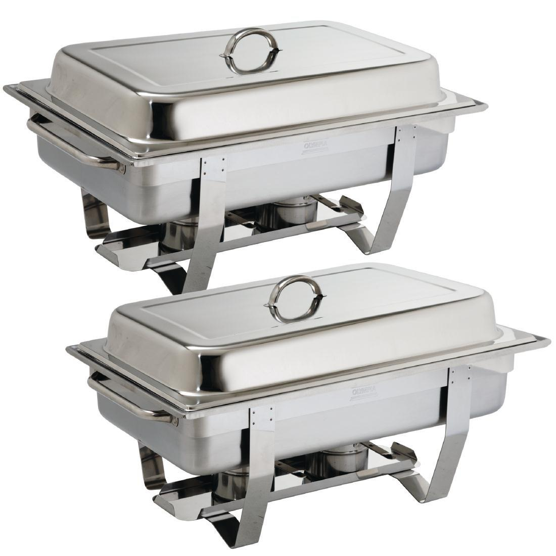 Juego de 2 chafing dish Gastronorm 1/1 Milán Olympia S300