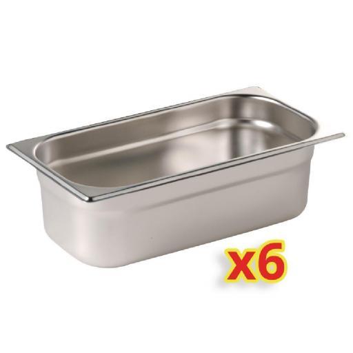 Juego de 6 bandejas Gastronorm 1/4 Polar S413 [0]