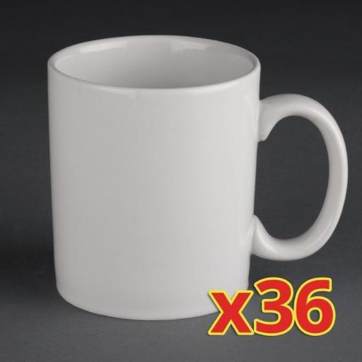 Juego de 36 tazas Mug Athena Hotelware 280ml S543