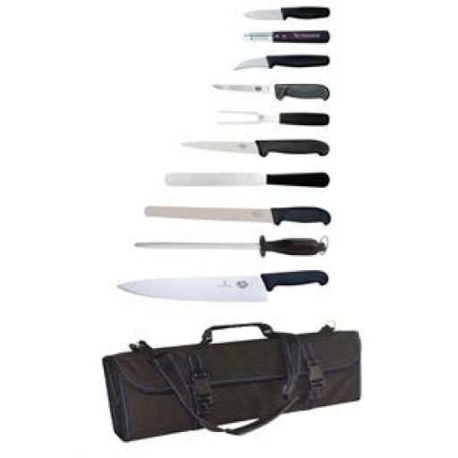 Juego de 11 cuchillos Victorinox y estuche S853