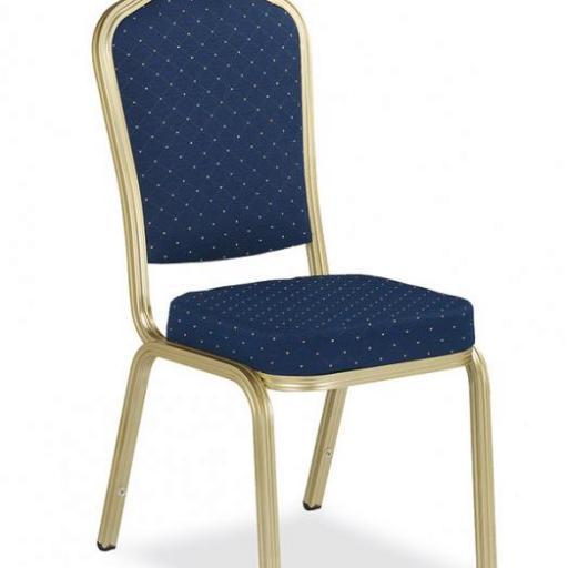 Juego de 4 sillas de banquete con chasis color champagne SC0173