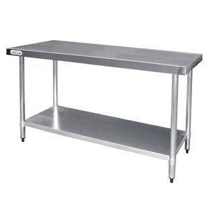 Mesa de preparados de acero inoxidable 1500mm. x 600mm. Vogue T377