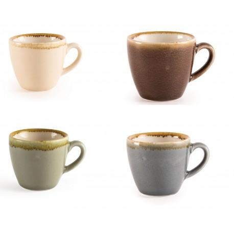 Juego de 6 tazas de café 85ml. Olympia Kiln