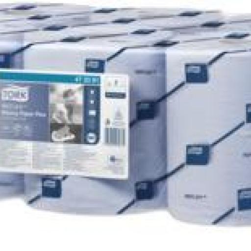 Fardo de 6 bobinas de papel azul Tork especial alimentación Y040 [1]