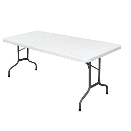Mesa rectangular plegable blanca 183cm Bolero U579