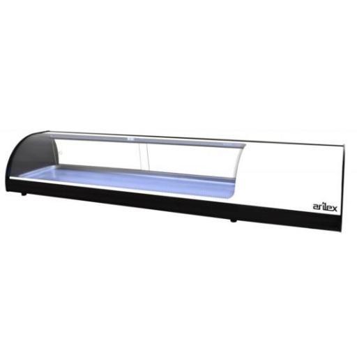 Vitrina refrigerada de tapas placa lisa 1456mm Arilex 6VTL