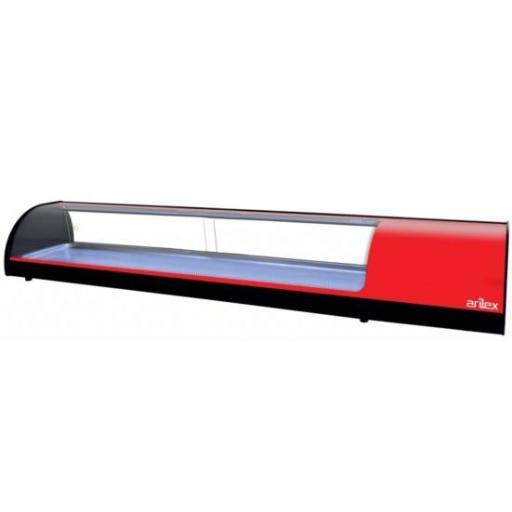 Vitrina refrigerada de tapas placa lisa 1808mm Arilex 8VTL