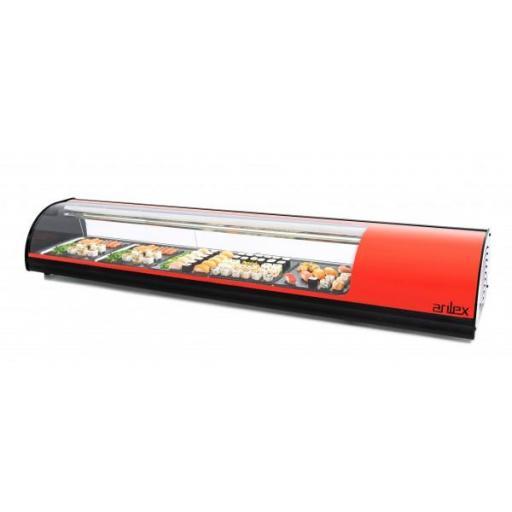 Vitrina refrigerada para sushi placa lisa 1808mm Arilex 8VTL