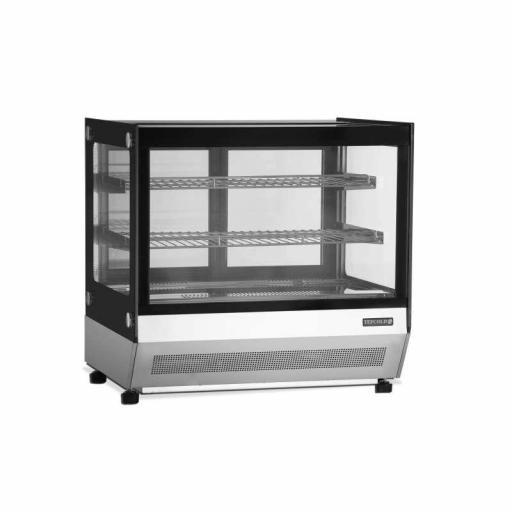 Vitrina refrigerada sobremostrador cristal recto Viborg LCT750F-P