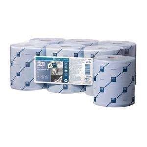 Fardo de 6 bobinas de papel azul Tork especial alimentación Y040