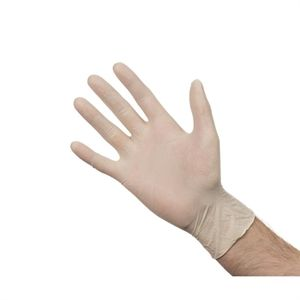 Caja de 100 guantes de látex no empolvados Y262