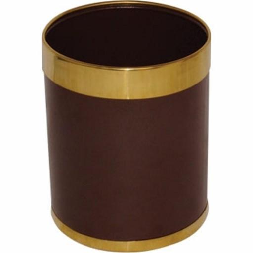 Papelera de hotel 10L. marrón y dorado Bolero Y804