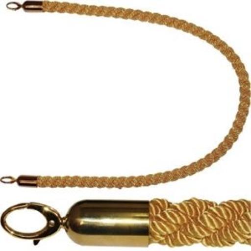 Cordón trenzado dorado para poste barrera Bolero Y806 [0]