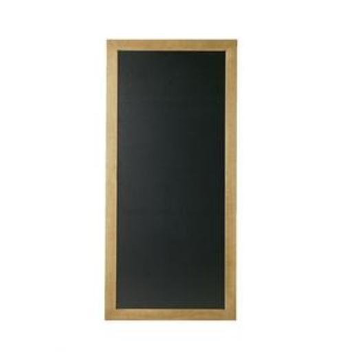 Pizarra rectangular con marco de teca modelo largo Securit