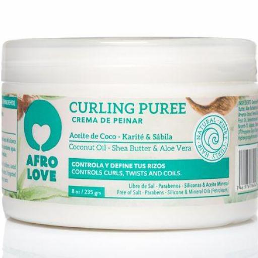 Crema Curling Puree 235 gr. Afro Love