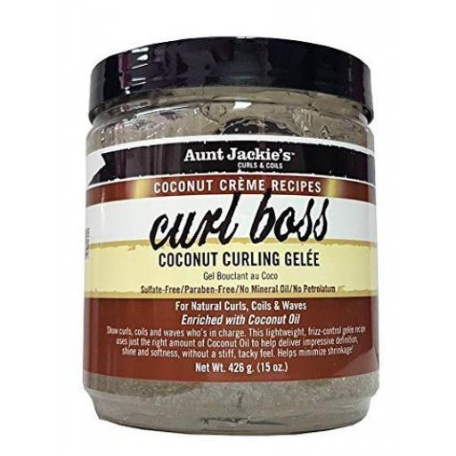 Curl Boss Coconut Curling Gelée Aunt Jackie's