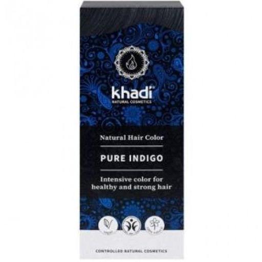 Tinte Natural Indigo Puro  Negro Azulado BIO KHADI