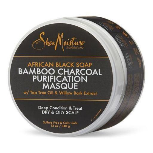 Mascarilla Purificante ABS Bamboo Charcoal  Shea Moisture