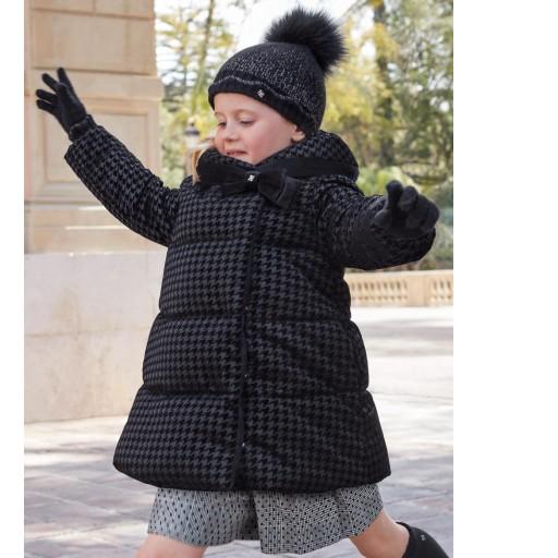 Parka-abrigo negra acolchada reversible [0]