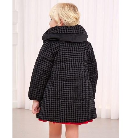 Parka-abrigo negra acolchada reversible [1]