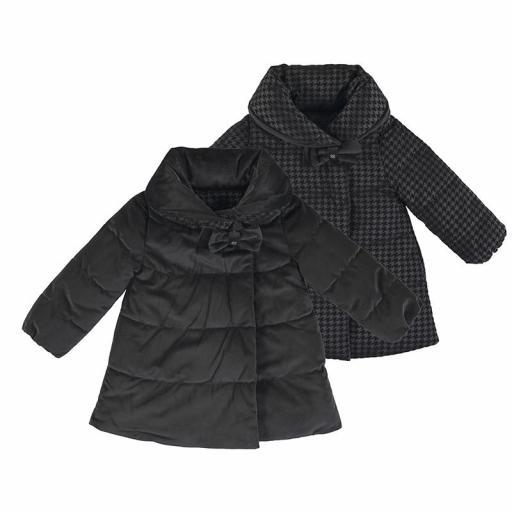 Parka-abrigo negra acolchada reversible [3]