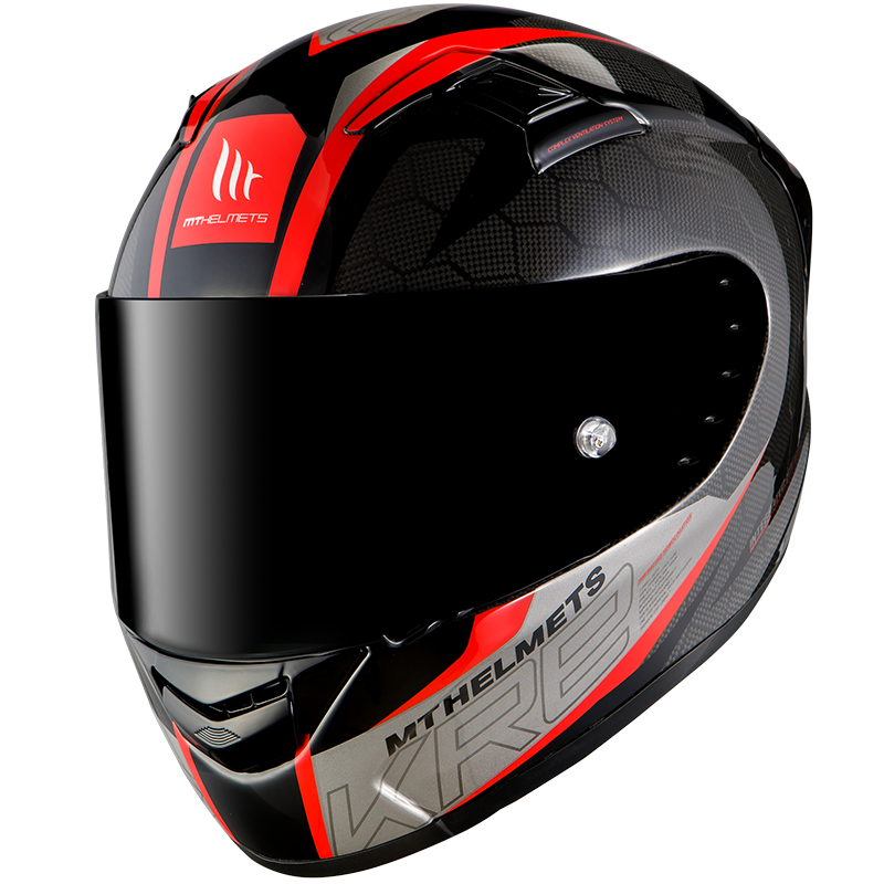 CASCO INTEGRAL KRE SNAKE CARBON 2.0 A5 GLOSS RED