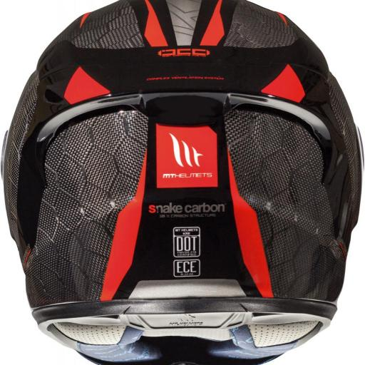 CASCO INTEGRAL KRE SNAKE CARBON 2.0 A5 GLOSS RED [1]