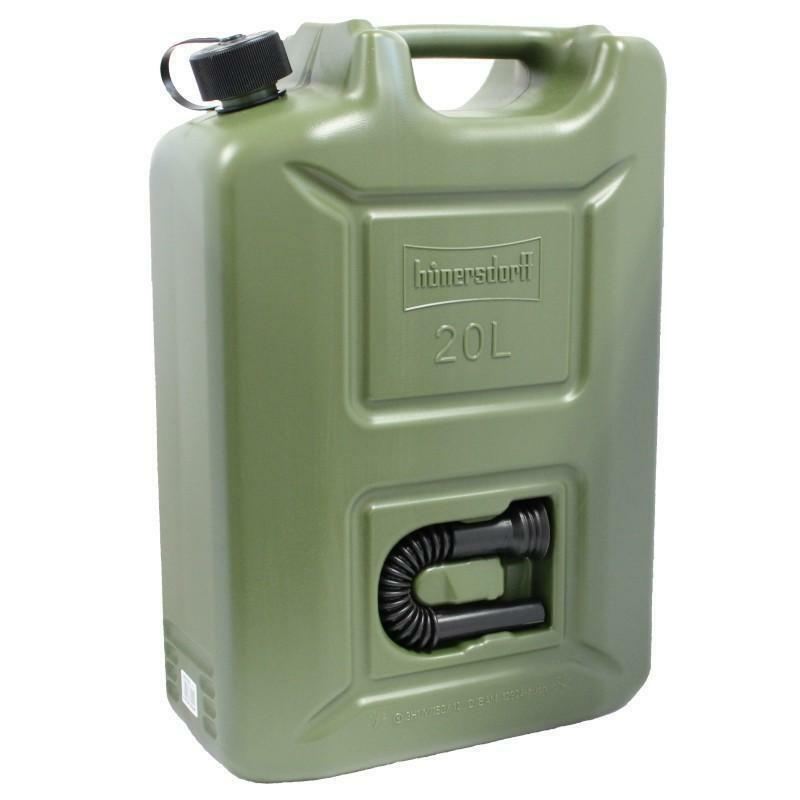Bidón de gasolina 20 litros olive con embocadura integrada