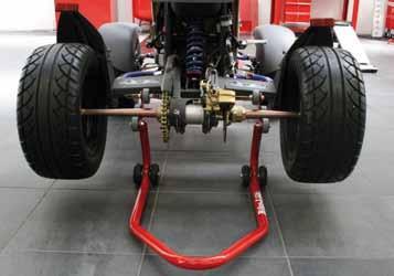 Caballete -Quad/ATV al eje trasero