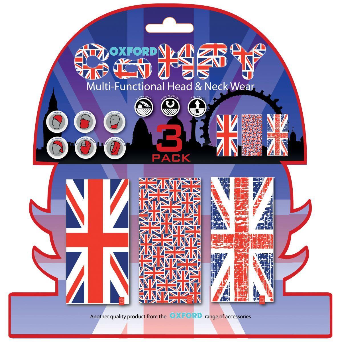 Braga Confort Union Jack (Bnadera UK) pack de 3 Oxford NW120