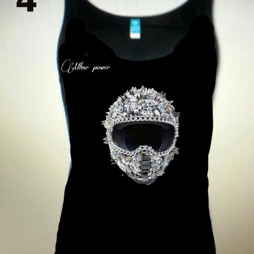 Camiseta Moter@s , MODELO 4  casco