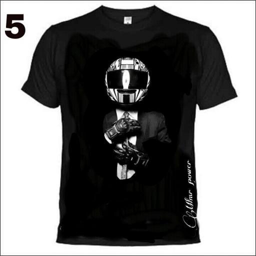 Camiseta Moter@s , MODELO 5  traje /casco  [0]