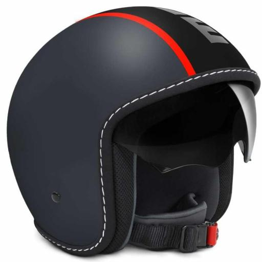 CASCO MOMO DESIGN BLADE GREY MAT/FLUO RED