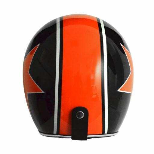 Casco Jet Origine Primo Astro Negro Estrella Naranaja color de Harley Davidson [2]