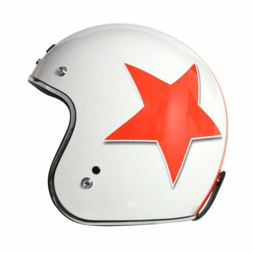 Casco Jet Origine Primo Astro Rojo Estrella roja Estilo vintage perfecto Vespa Clasica [1]