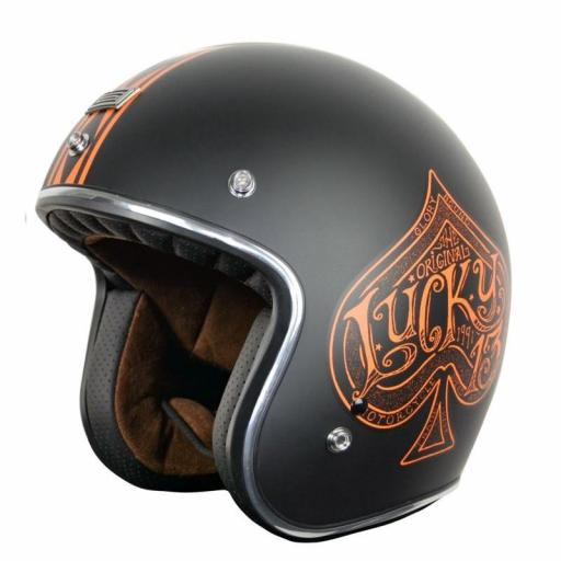 Casco jet PRIMO RED SPADE ORANGE