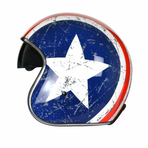 Casco Jet Origine Sprint Rebel Star Casco estilo capitan américa [1]