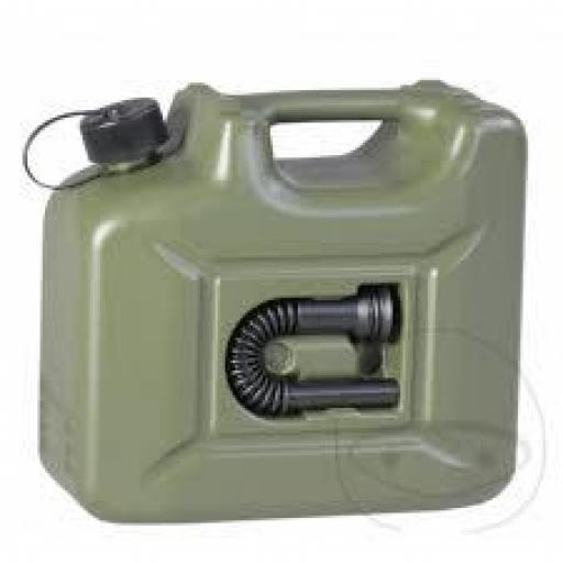Bidón de gasolina 10 litros olive con embocadura integrada [1]
