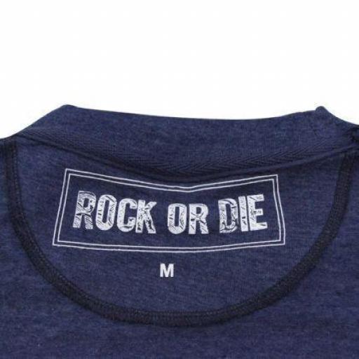 CAMISETA ROCK OR DIE LIVEFAST AZUL HOMBRE [1]