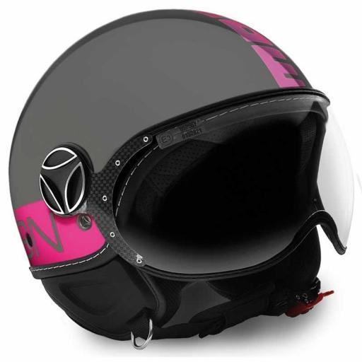 CASCO MOMO DESIGN FGTR GREY/FUXIA