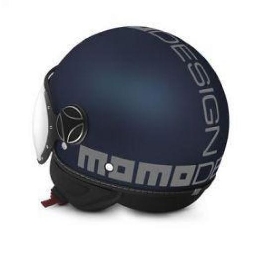 CASCO MOMO DESIGN FGTR EVO BLUE MAT/SILVER [2]