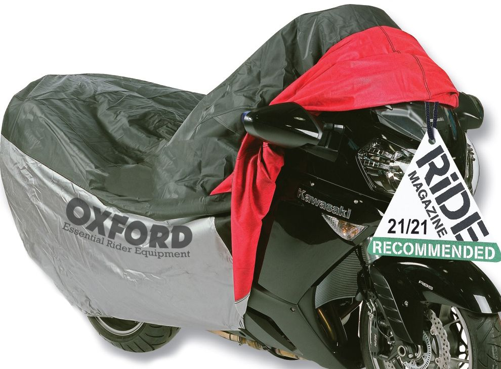 Funda de proteccion para motocicletas con bolsillo frontal T.L (183cm) Oxford OF924