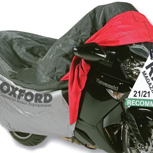 Funda de proteccion para motocicletas con bolsillo frontal T.L (183cm) Oxford OF924 [0]