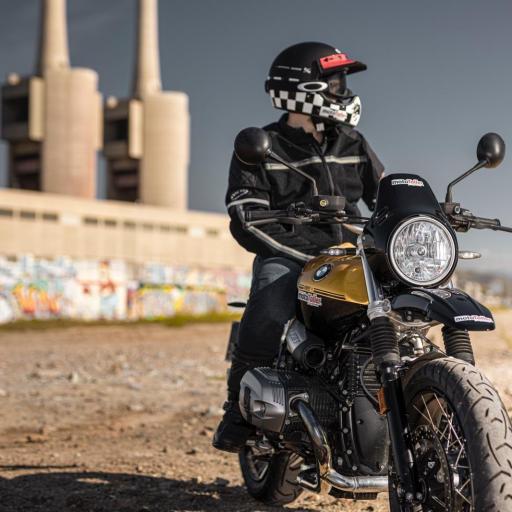 CHAQUETA DE VERANO MOTORISTA, ESTILO VINTAGE CAFE RACER INVICTUS DEDALO [1]