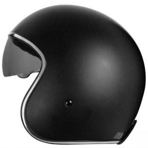 Casco Jet   SPRINT NEGRO MATE