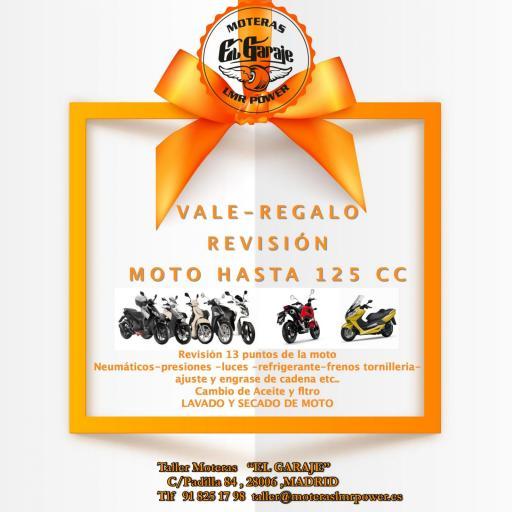 VALE-REGALO REVISION COMPLETA MOTO HASTA 125CC