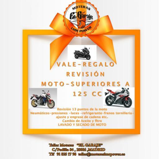 VALE-REGALO REVISION COMPLETA MOTO A PARTIR DE 125 CC