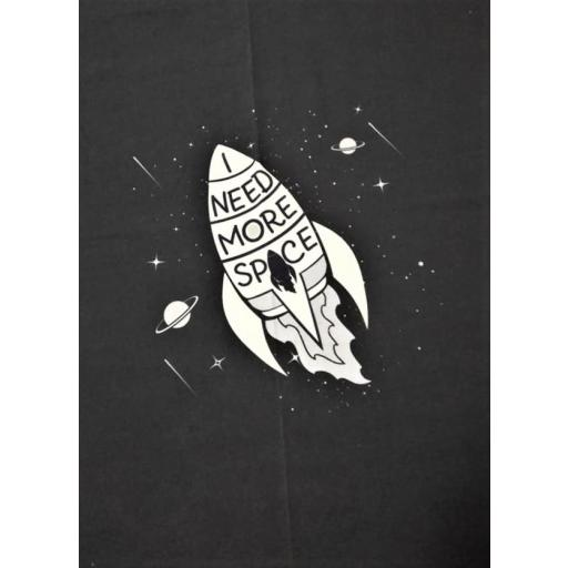 PANEL PUNTO SUDADERA FRENCH TERRY COHETE ESPACIAL